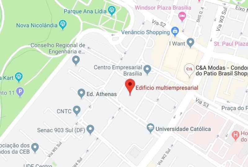 Mapa - Escritório Virtual - Brasilia - DF