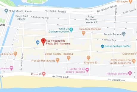 Mapa - Endereço Virtual - Ipanema - Rio de janeiro