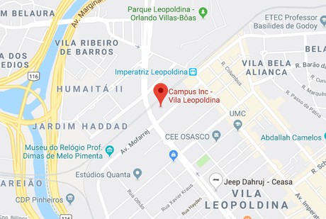 Mapa - Endereço Virtual - Vila Leopoldina